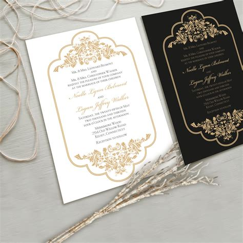Hochzeitseinladung Gold by Best Selection Of White And Gold Wedding Invitations