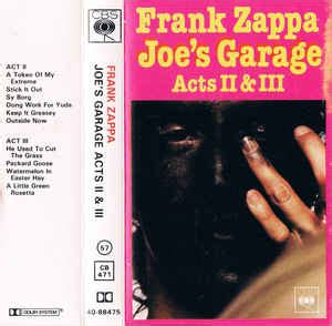joe s garage frank zappa joe s garage acts ii iii cassette album