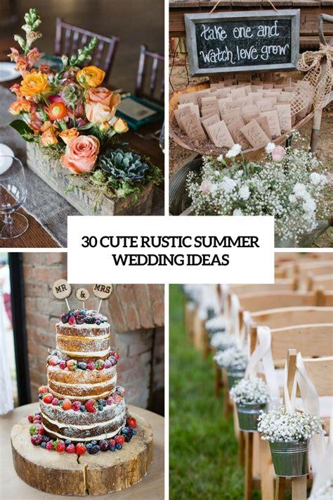 30 Cute Rustic Summer Time Wedding Suggestions   Decor Advisor