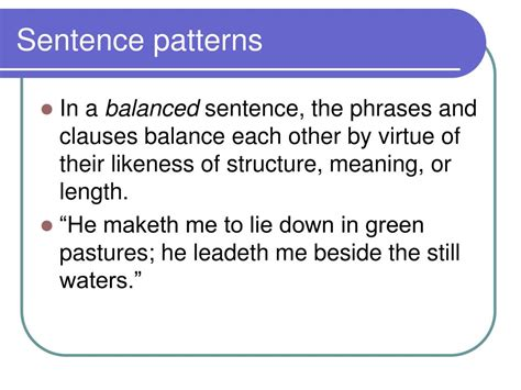 sentence pattern mary is exhausted ppt analysis of diction and syntax powerpoint