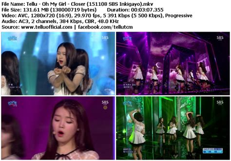 download mp3 closer by oh my girl download perf oh my girl closer sbs inkigayo 151108