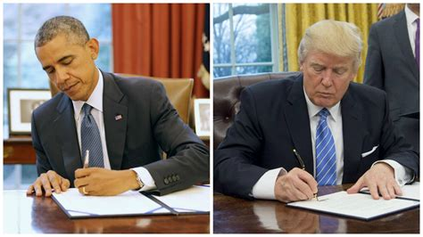 trump desk vs obama desk how trump has changed the oval office so far cbs news