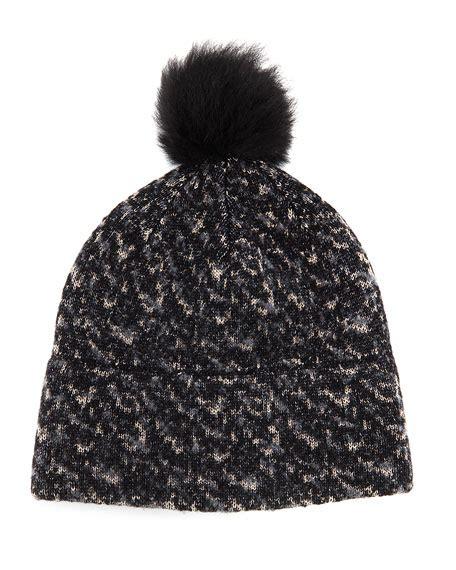 Melange Beanie Hat rag bone melange knit beanie hat black