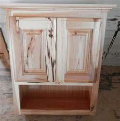 Rustic Bathroom Wall Cabinet Amish Made Custom Bathroom Wall Cabinet Rustic Hickory Ebay