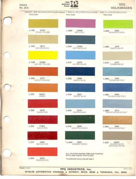 paint chips 1973 volkswagen beetle vw misc stuff