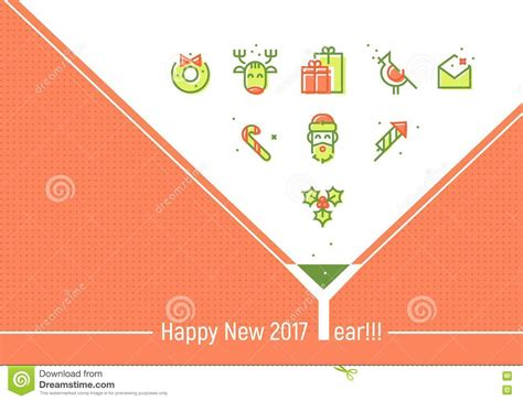 greeting card email template happy new 2017 year greeting cards template stock