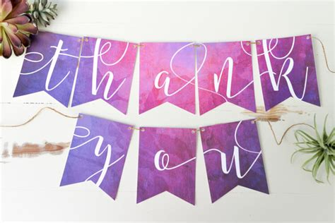 Wedding Banner Cricut by Cricut Watercolor Thank You Wedding Pennants Hey Let S