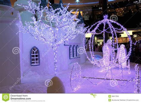 snow decorations snow house decoration stock photo image 36917250