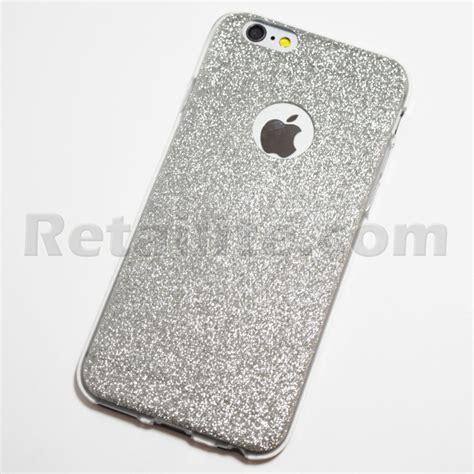 silver glitter iphone  iphone  soft case retailite