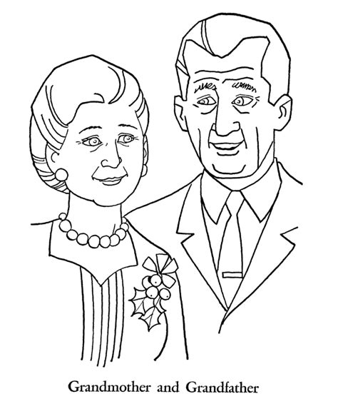 coloring page for grandparents day grandparents day coloring pages grandmother and