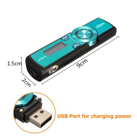 Usb Mp3 lcd screen usb mp3 player fm radio support 16gb micro sd tf card with earphone alex nld