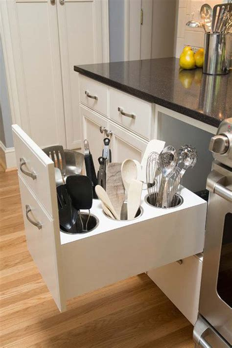 kitchen utensils storage cabinet remodelaholic diy upright utensil drawer organizer