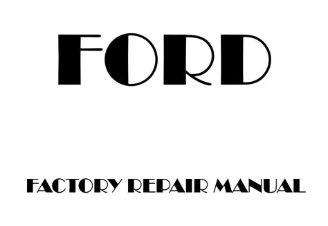 Ford F150 2004 2008 Factory Repair Manual