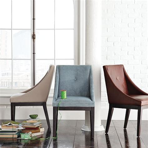 Curved Dining Chair by Curved Upholstered Chair West Elm