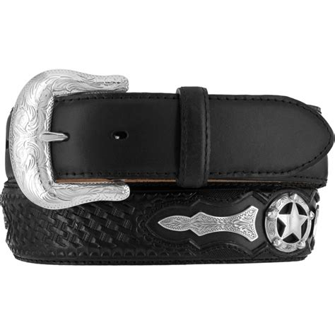 justin western mens belt leather black ranger c10763