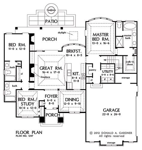 Open Floor Plan Ranch plan of the week each bedroom has its own bathroom