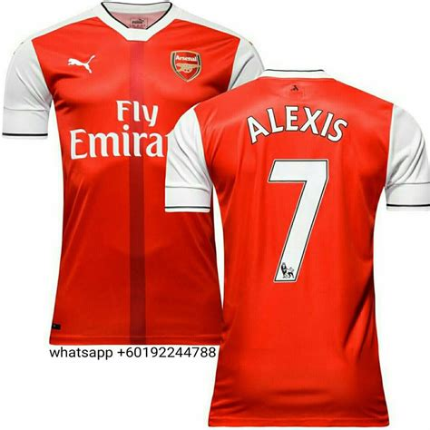 epl jersey sales arsenal home actv jersey jersi 2016 17 alexi end 8