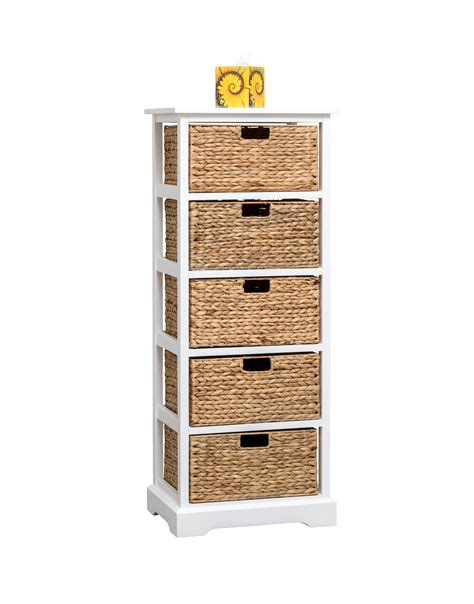 cabinet basket storage white cabinet with 5 baskets from storage box