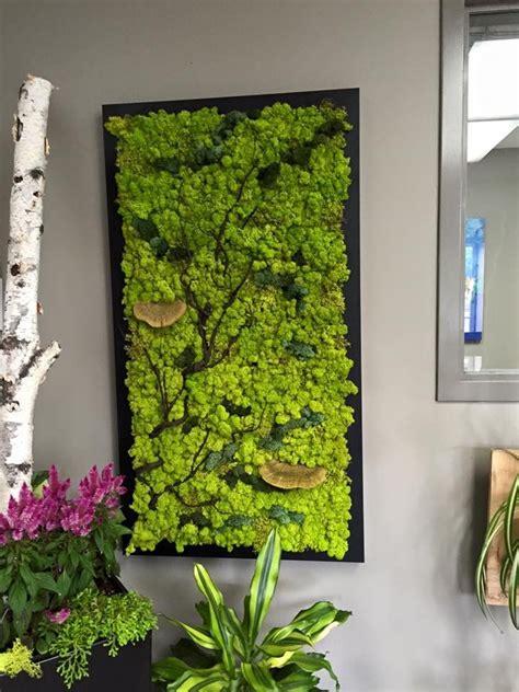 fabulous custom  moss wall  branches  natural