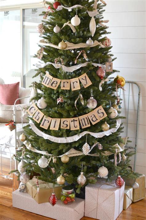 vintage farmhouse christmas tree little vintage nest