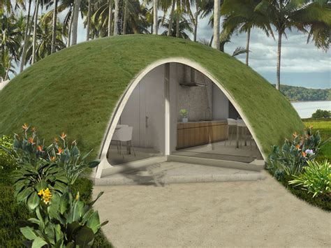 a for domed houses made of inflated concrete
