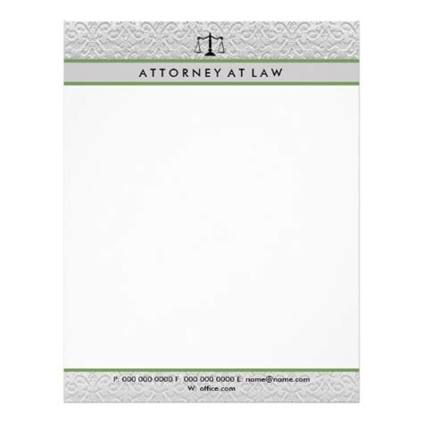 attorney letterhead template attorney at law letterhead template zazzle