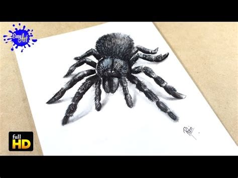 how to draw spider 3d como dibujar ara 241 a 3d youtube