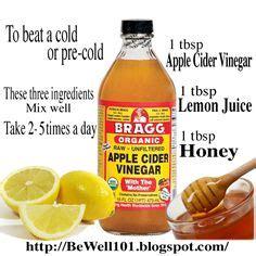 Throat Detox by Apple Cider Vinegar On
