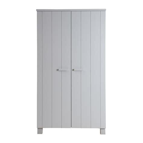 dennis pine wardrobe in concrete grey