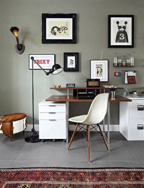 Home Office Wall | wall art ideas design storage decoration home office