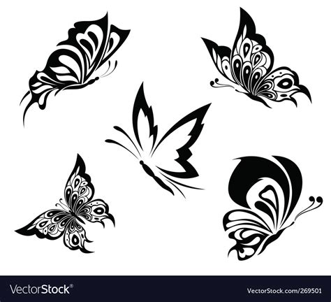 butterfly tattoo royalty free vector image vectorstock