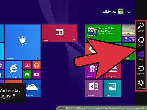 how to change color on windows 8 how to change the start button hover color on windows 8 1