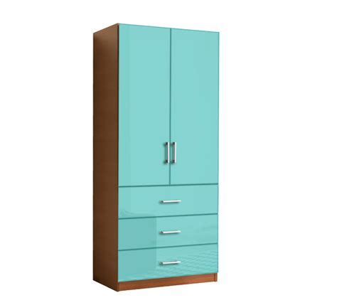 Two Door Wardrobe Closet by Wardrobe Closet W 2 Doors And 3 Exterior Drawers Item