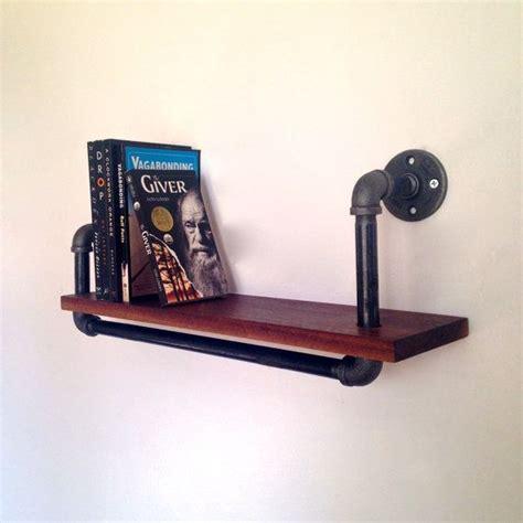 reclaimed black walnut pipe shelf shelving