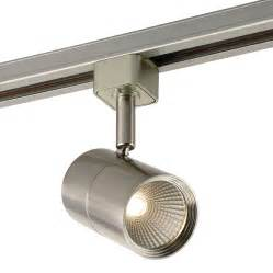 led track light fixtures shop project source 1 light dimmable brushed nickel flat