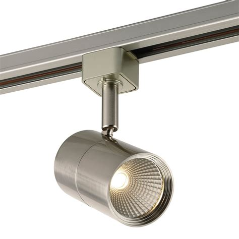 track lighting led fixtures shop project source 1 light dimmable brushed nickel flat
