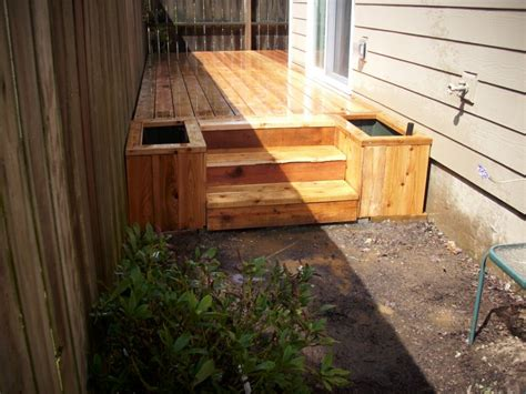 Planter Box Deck cedar deck with planter boxes deck masters llc