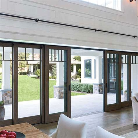 multi slide patio doors architect series traditional multi slide and lift and