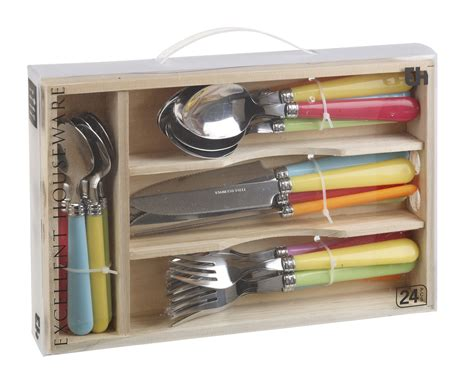 Kitchen Drawer Set by 24pcs Stainless Steel Cutlery Set In Wooden Box Kitchen