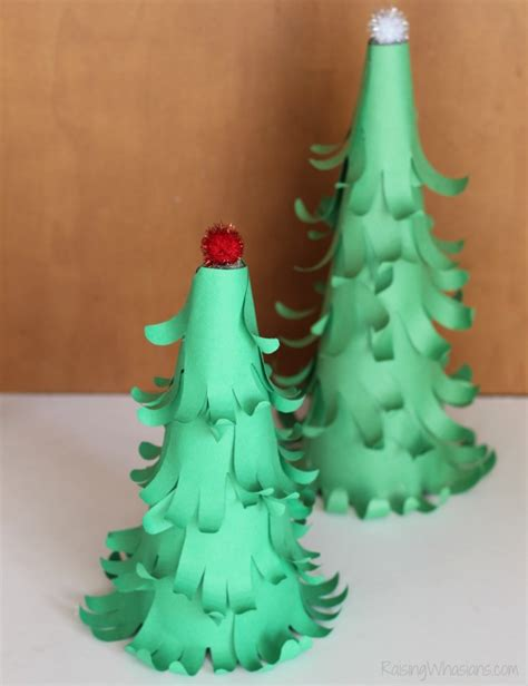 easy 3d handprint christmas tree craft