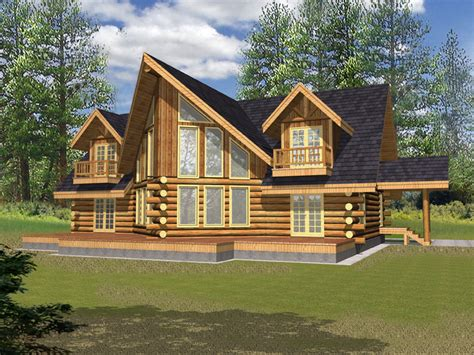 powderhorn log home plan 088d 0328 house plans and more