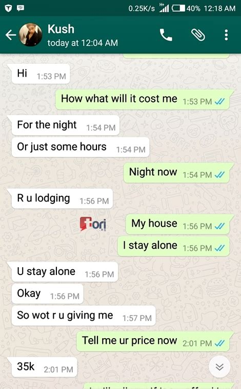 massive inflation hits s x price in lagos see leaked whatsapp chat with a notorious runs girl