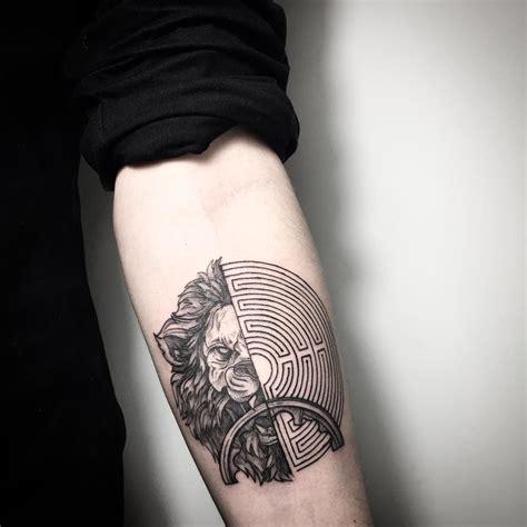 maze tattoo by lesyale maze idea