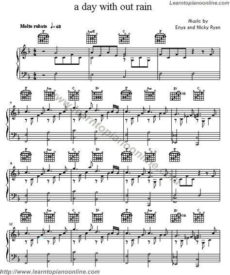 tutorial piano enya enya a day without rain free piano sheet music learn