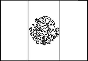 mexican flag coloring page mexican flag clipart cliparts co