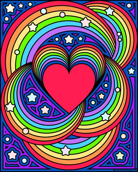 rainbow hearts coloring pages don t eat the paste rainbow love coloring page