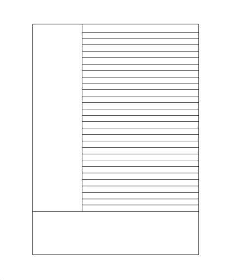 free printable paper templates lined paper template 12 free documents in pdf