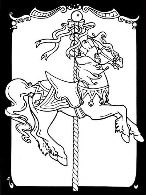 coloring pictures of carousel horses carousel horse coloring pages photo printables and
