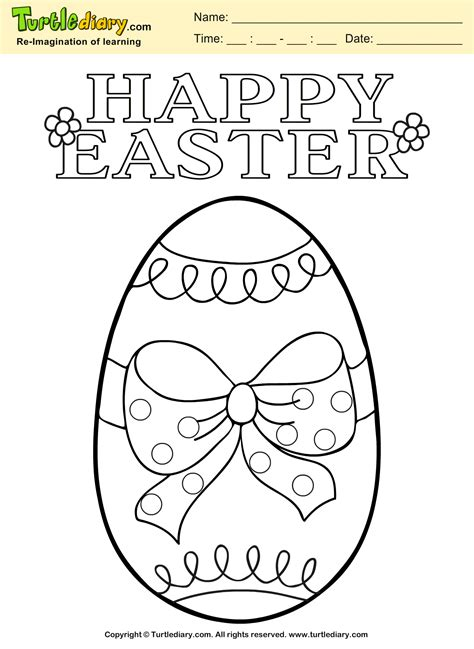 easter egg coloring sheets easter egg coloring sheet turtle diary