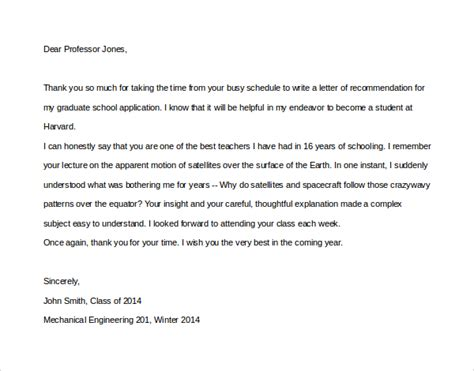 appreciation letter for professor sle thank you letter to professor 9 free